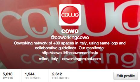 Live twitting Cowo sul libro sul Coworking