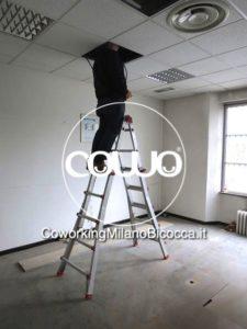 Lavori in corso al Coworking Milano Bicocca