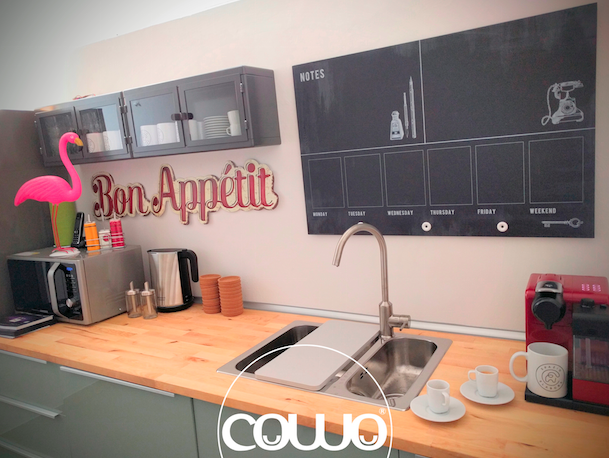 Cucina al Coworking di Spazio Elabora in zona Bocconi a Milano